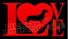 Love Dachshunds 1 Dog Decal Sticker DM