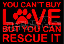 Dog & Puppy Rescue Awareness Decal Sticker DM