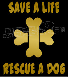 Dog Adoption Awareness 3 Decal Sticker DM
