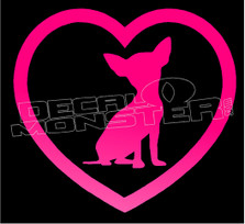 Loved Chiuaua Dog Decal Sticker DM