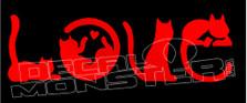 CAT Text Love Decal Sticker DM