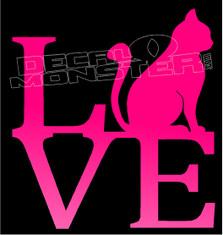 Love Kitty Cats Decal Sticker DM