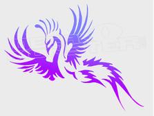 Exoitic Tribal Bird Silhouette Decal Sticker DM