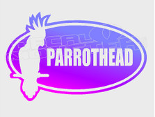 Parrot Head Decal Sticker DM