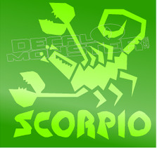 Astrological Zodiac Sign Scorpio Decal Sticker DM