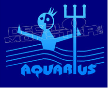 Astrological Zodiac Sign Aquarius Decal Sticker DM
