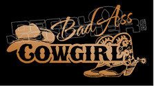 Bad Ass Cowgirl 2 Decal Sticker DM