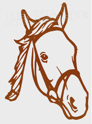 Horse Silhouette 8 Decal Sticker DM