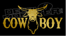 Longhorn Cowboy Decal Sticker DM