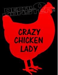 Crazy Chicken Lady Chicken Decal Sticker DM
