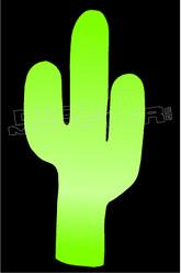 Simple Cactus Silhouette Decal Sticker DM