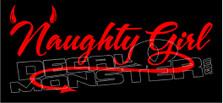 Naughty Girl Devilish Decal Sticker DM