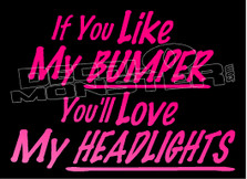 Naughty Like Bumper & Headlights Quote Decal Sticker DM