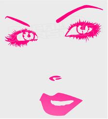 Girl Silhouette 1 Decal Sticker DM