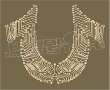 True Religion Circuit Board Decal Sticker DM