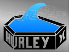 Hurley Pool Coffin Surf Decal Sticker DM