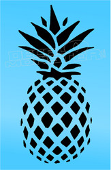 Pineapple Hawaii Silhouette 7 Decal Sticker DM