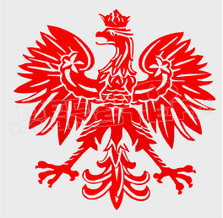 Polish Eagle Silhouette 11 Decal Sticker DM