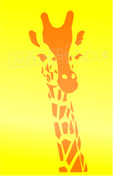 Giraffe Silhouette 1 Decal Sticker DM