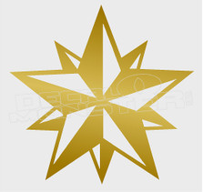 Nautical Star 3D Silhouette 1 Decal Sticker DM
