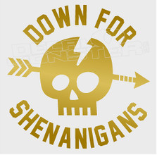 Down for Shenanigans Skull Decal Sticker DM