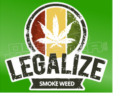 Leagalize Weed Smoke Weed Decal Sticker DM