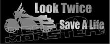 Motorcycle Harley Awareness Look Twice 2 Decal Sticker DM