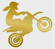 Dirt Bike Girl3 Wheelie Decal Sticker DM