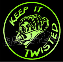 Keep it Twisted Motorcycle Decal Sticker DM