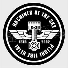 Machines of the Sky Motorcycle Decal Sticker DM