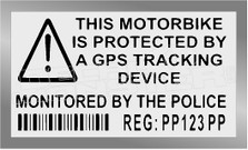 Motorbike Secuirty Warning Motorcycle Decal Sticker DM