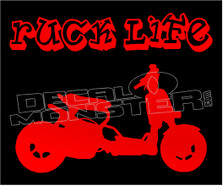 Ruck Life Motorcycle Decal Sticker DM