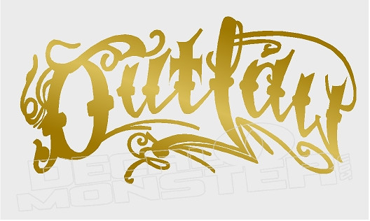 Outlaw Old English Script Decal Sticker