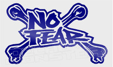 No Fear Crossbones Decal Sticker DM
