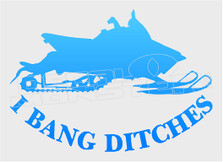 Snowmobile Bang Ditches 1 Sled Decal Sticker DM