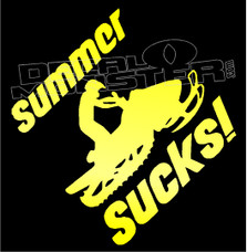 Snowmobiling Summer Sucks Sled Decal Sticker