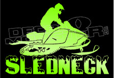 Hardcore Sledneck Sled Decal Sticker