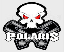 Polaris Pistons & Skull Sled Decal Sticker