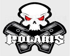 Polaris Pistons & Skull Sled Decal Sticker