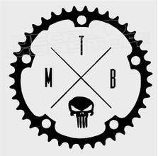 MTB Punisher Skull Mountain Bike Decal Sticker