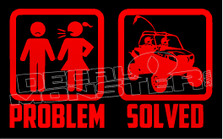 Problem Solved Polaris Razor Edition UTV Decal Sticker