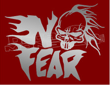 No Fear Skull Flame Head 5 Decal Sticker