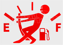 Gas Hungry Stickman Funny Decal Sticker
