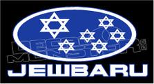 Jewbaru Parody Subaru Decal Sticker