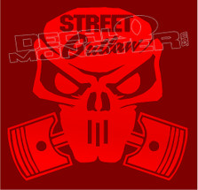 Street Outlaw Skull & Pistons Decal Sticker