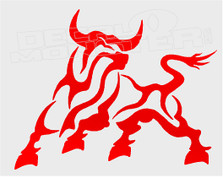 Tribal Red Bull Decal Sticker