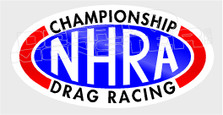 NHRA Championship Drag Racing Decal Sticker
