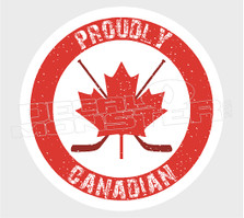 Proudly Canadian Hockey Decal Sticker