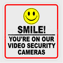 Video Surveillance Smile Camera Decal Sticker