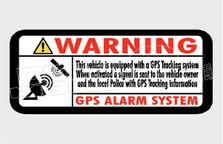 Warning Vehicle Equipped With GPS Tracking System Decal Sticker